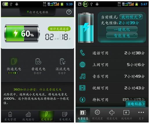 四款安卓手机电池管理软件横测